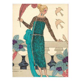 Familiar Doves by George Barbier Postcard
