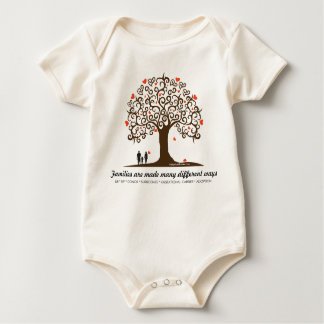 Families are made many different ways baby bodysuit