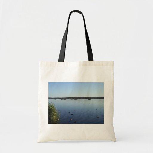 Families Of Ducks Swimming In The Lake Of Joondalu Canvas Bag