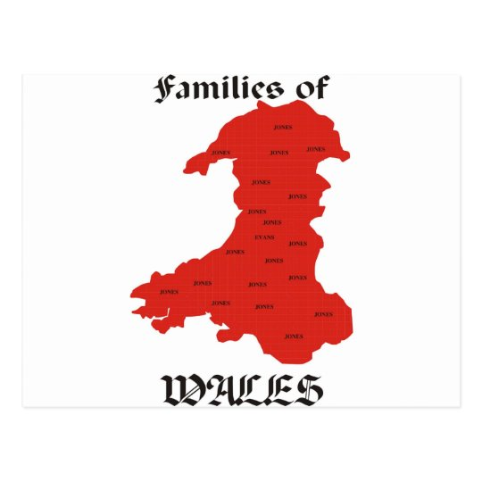 Families of Wales Postcard
