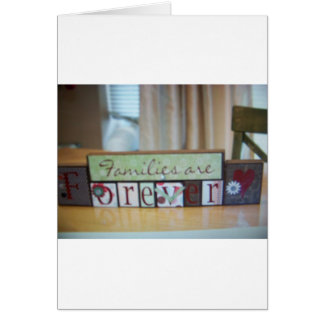 families r forever blocks greeting card