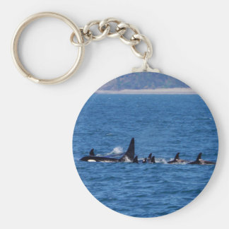 Families Stick Together Basic Round Button Key Ring
