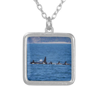 Families Stick Together Square Pendant Necklace