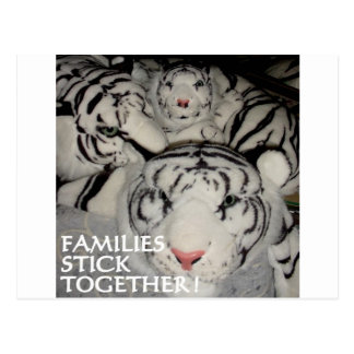 FAMILIES STICK TOGETHER TIGERS POSTCARD