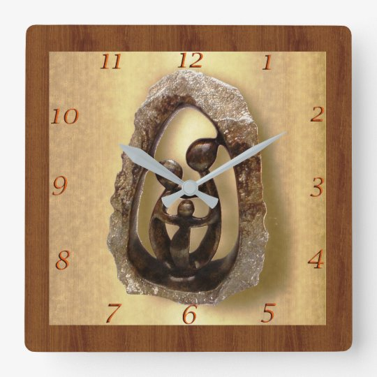FAMILY 1 SQUARE WALL CLOCK