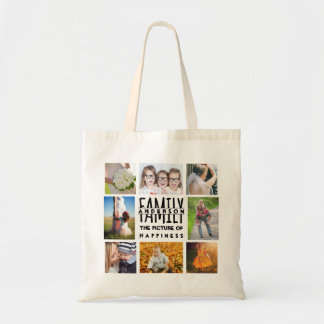 Family 8 Photo Collage Template Plus Add Name V1