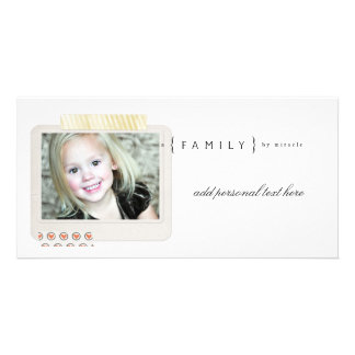 Family Adoption Photocards Personalised Photo Card