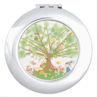 Family and Tree Travel Mirrors