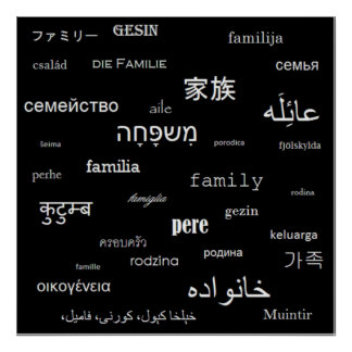 'Family' around the world Poster