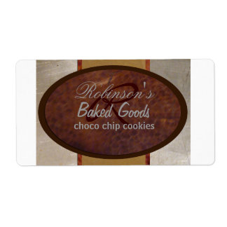 Family bakery shipping label