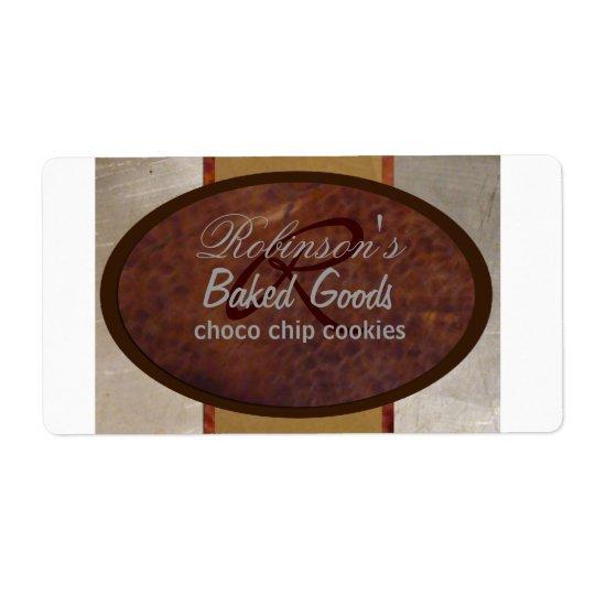 Family bakery shipping label
