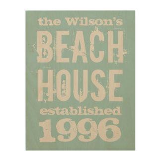 Family Beach House Customized Wood Wall Decor