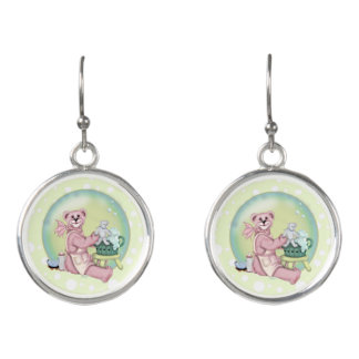 FAMILY BEAR CARTOON Drop Earrings 2