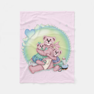 "FAMILY BEAR LOVE Fleece Blanket, 30""x40"""