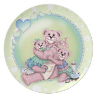FAMILY BEAR LOVE  Melamine Plate