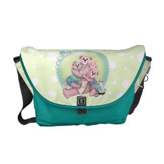 FAMILY BEAR LOVE Rickshaw Messenger Bag