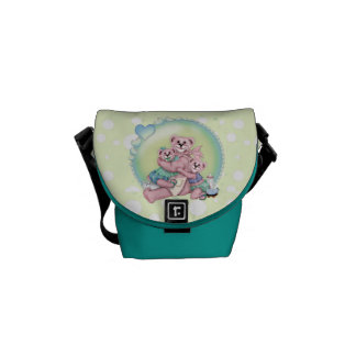 FAMILY BEAR LOVE Rickshaw Messenger Bag MINI