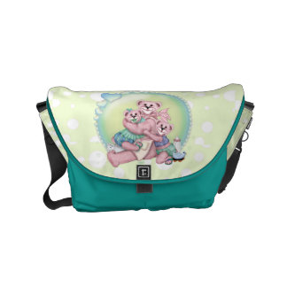 FAMILY BEAR LOVE Rickshaw Messenger Bag SMALL