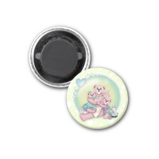 FAMILY BEAR LOVE Round Magnet small