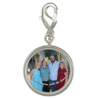 Family Begins with the Heart Charm
