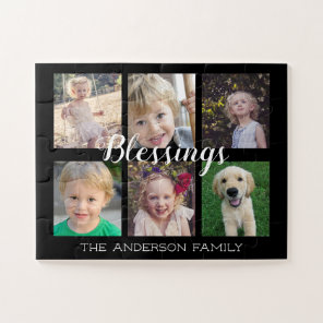 Family Blessings | 6 Photo Collage Jigsaw Puzzle
