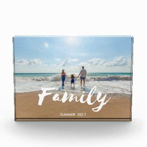 Family Brush Typography Photo Block
