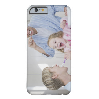 Family brushing teeth together barely there iPhone 6 case