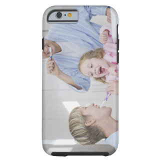 Family brushing teeth together tough iPhone 6 case