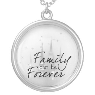 family can be forever silver plated necklace