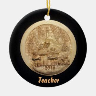 FAMILY CAROLS 2016 TEACHER COLLECTOR XMAS ORNAMENT