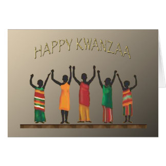 Family Celebration Kwanzaa Holiday Notecards Card