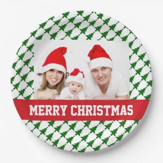 Family Christmas Photo Party Plates