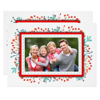 Family Christmas Photo Stylish Script Festive Card