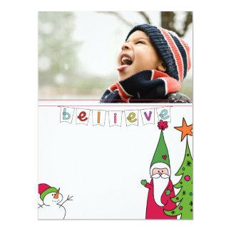 family christmas potriat photo card 17 cm x 22 cm invitation card
