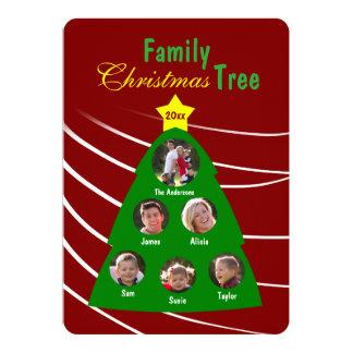 Family Christmas Tree Keepsake Custom Photo Card 13 Cm X 18 Cm Invitation Card