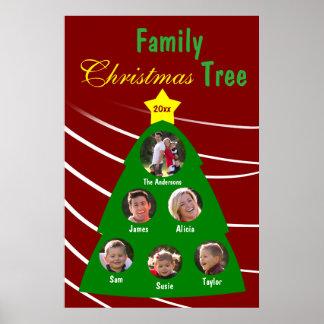 Family Christmas Tree Keepsake Custom Photo Poster