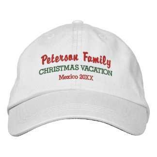 Family Christmas Vacation Custom Location & Date Embroidered Hat