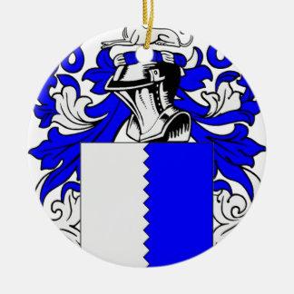 Family Coat of Arms Merchandise Round Ceramic Decoration