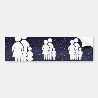 Family Contentments Minimal Bumper Sticker