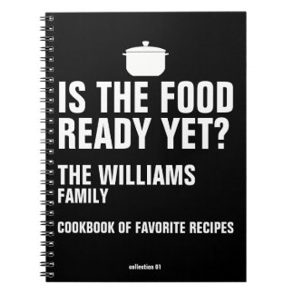 family cookbook of favorite recipes black spiral notebook