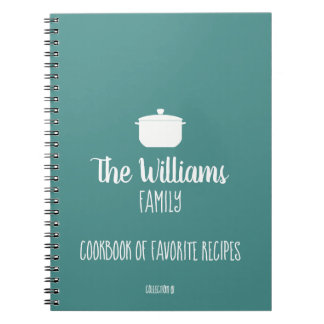 family cookbook of favorite recipes blue notebooks