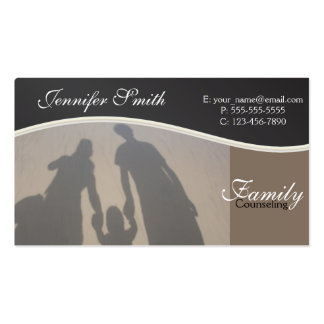 Family Counseling | Professional Counselors Pack Of Standard Business Cards