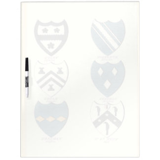 Family Crests of Various English Houses Dry Erase Board