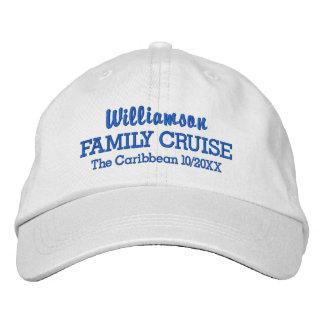 Family Cruise Baseball Cap Custom Location & Date