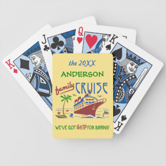 Family Cruise Vacation Funny Ship | Custom Name Bicycle Playing Cards