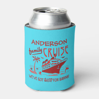 Family Cruise Vacation Funny Ship | Custom Name V5 Can Cooler