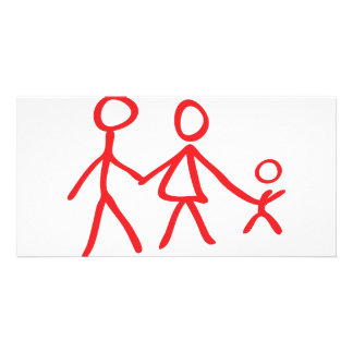 family dad mom kid photo card template