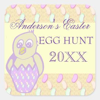 Family Easter Egg hunt Square Sticker