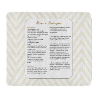 Family Favorite Recipe Chevron - Lasagna Cutting Board