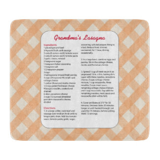 Family Favorite Recipe Retro - Lasagna Cutting Board